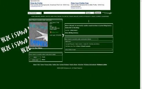 myspace.com/hereistandlayouts