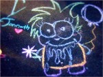 drooling chalk boy