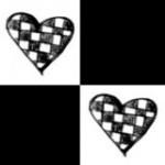 Checkered hearts