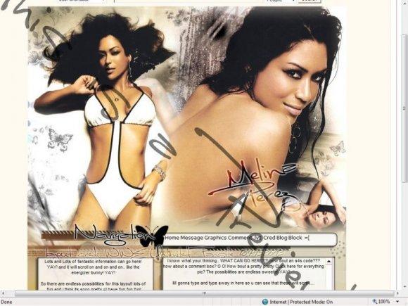 Melina Perez - Myspace Layouts - CreateBlog