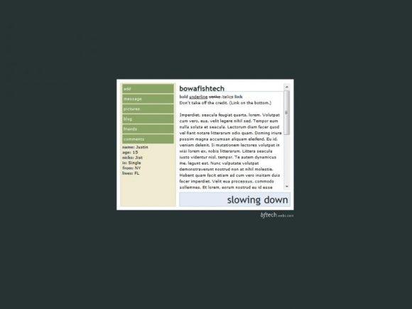 plain myspace overlays