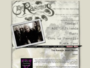 The Rasmus, Black Roses