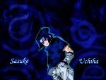 Blue Sasuke Background