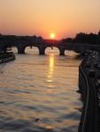 Paris - Sun goes down.