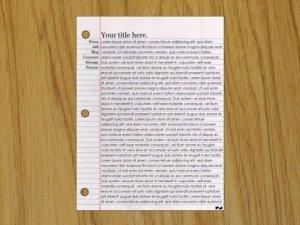 Binder Paper