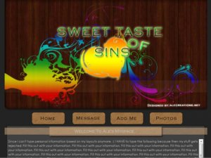 Sweet taste of sins